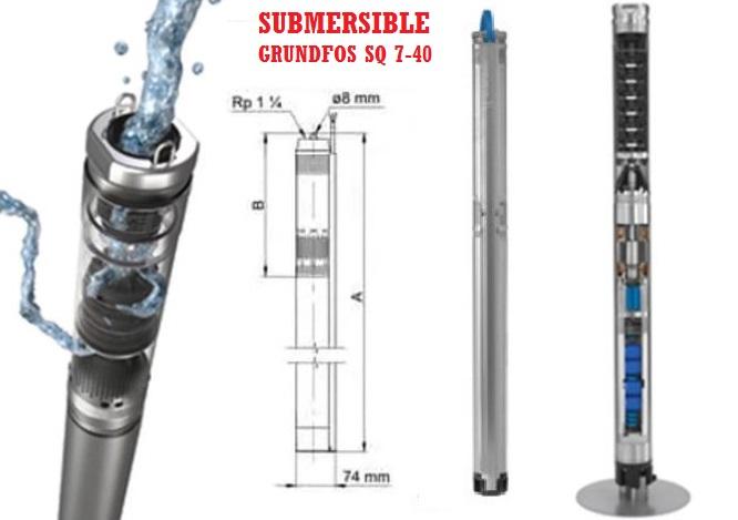Submersible Grundfos SQ 7-40 3 Inch