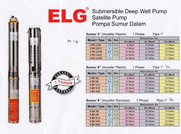 Jual Submersible Merk ELG